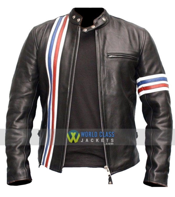 Captain America's Easy Rider Cowhide Milled Leather Jacket