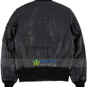 Alpha Industries MA-1 Replica Flight Bomber Leather Jacket