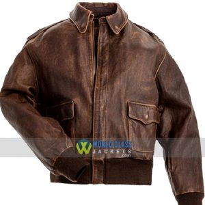 Buy Aviator A2 Flight Distressed Brown Real Leather Jacket Online