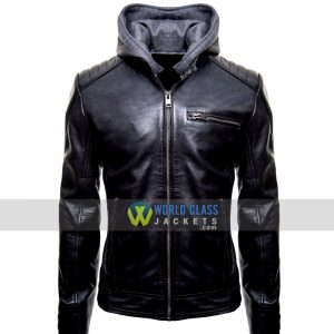 Buy this Batman Logo Black Leather Jacket at 35% Off Sale