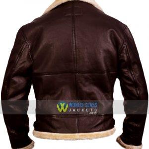 Tom Hardy Dunkirk Farrier Fur Leather Jacket