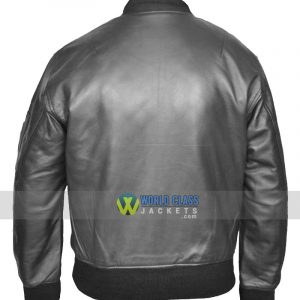 Mens MA1 Flight Pilot Bomber Leather Jacket Sale