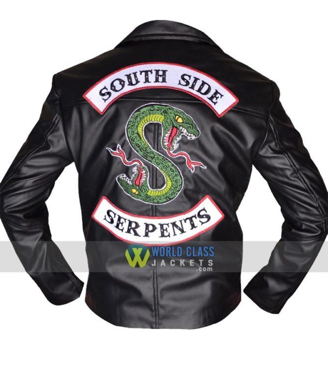 Buy Jughead Jones Snake Riverdale Southside Serpents Men Black Biker Leather Jacket