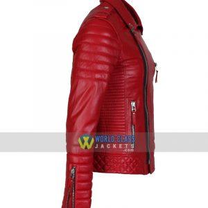 $60 OFF On Men Women Biker Vintage Maroon Leather Jacket