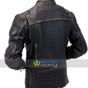 Cafe Racer Distressed 100% Genuine Leather Jacket Sale