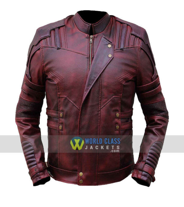 Chris Pratt Star Lord Guardians Of The Galaxy 2 Real Leather Jacket