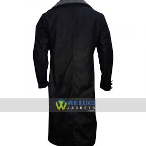 Tom Hardy Taboo James Keziah Fur Collar Delaney Wool Black Trench Coat