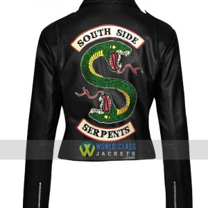 Cheryl Blossom 2 Face Dragon Riverdale Southside Serpents Women Biker Leather Jacket