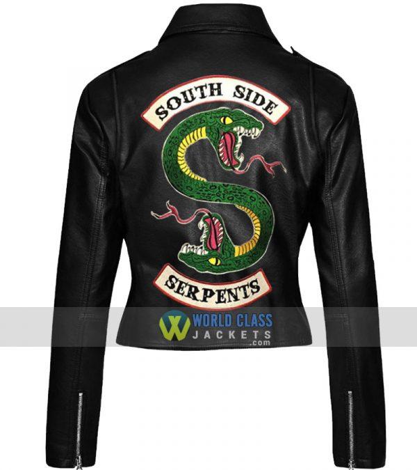 Cheryl Blossom 2 Face Dragon Riverdale Southside Serpents Women Biker Leather Jacket