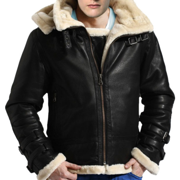 B-3 Bomber WW2 Real Sheepskin Fur Flight Leather Jacket Sale
