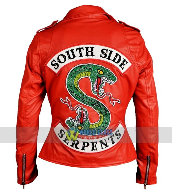 Buy Cheryl Blossom Southside Serpents Red Real Riverdale Leather Jacket 3 Online
