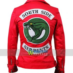 Buy Riverdale Southside Serpents Cheryl Blossom Women's Red Cotton Jacket 3