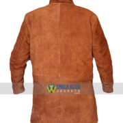 Get Robert Sheriff Brown Suede Leather Coat on Discount