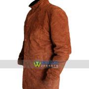 Robert Sheriff Brown Suede Leather Coat Sale