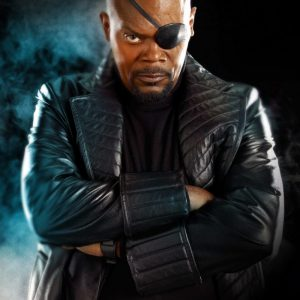 Samuel L. Jackson Iron Man 2 Leather Coat