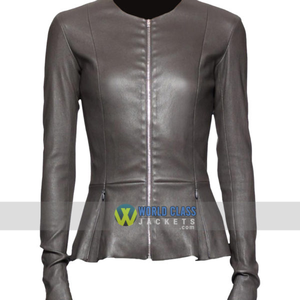 Buy State of Affairs Katherine Heigl Grey Leather Jacket