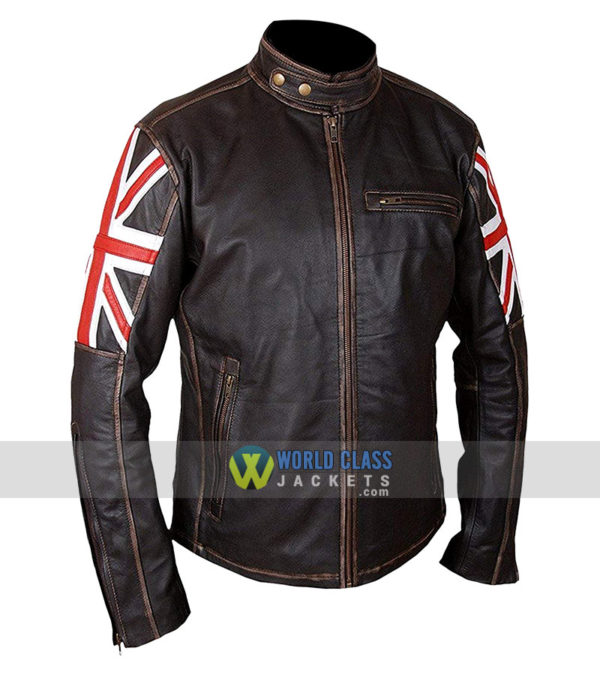 Union Jack UK Flag Biker Jacket