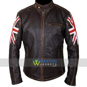 Union Jack UK Flag Biker Jacket Sale