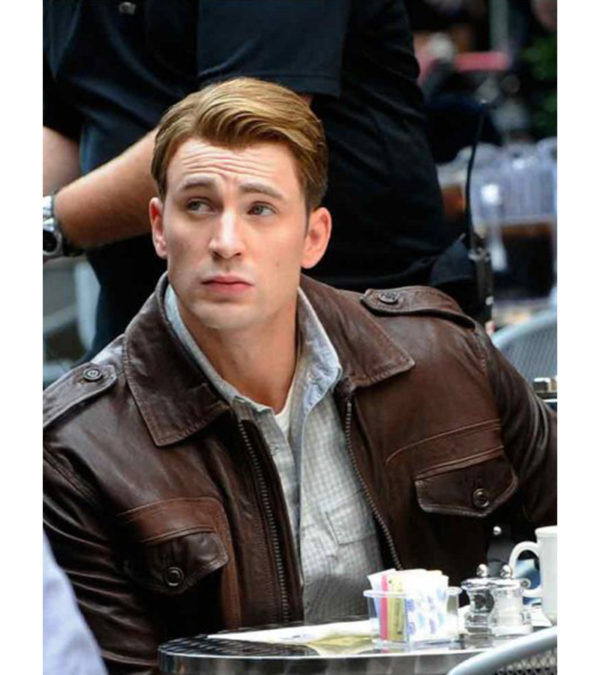 Steve Rogers Locomotive Captain America The Avengers Brown Jacket