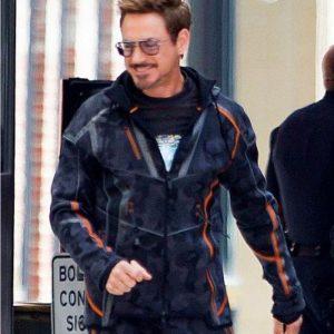Avengers Infinity War IRONMAN Tony Stark Camouflage Hoodie Gray Jacket