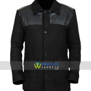 David Haller Legion Black Wool Leather Jacket