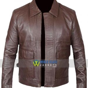 Brown Vintage Indiana Jones Leather Jacket