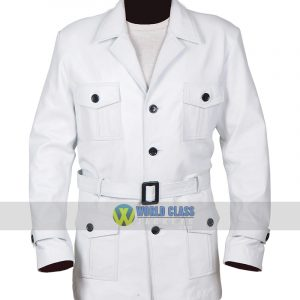 Jemaine Clement Legion White Leather Coat