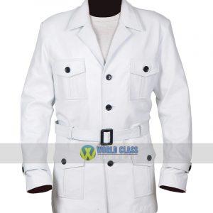 Jemaine Clement Legion White Leather Coat