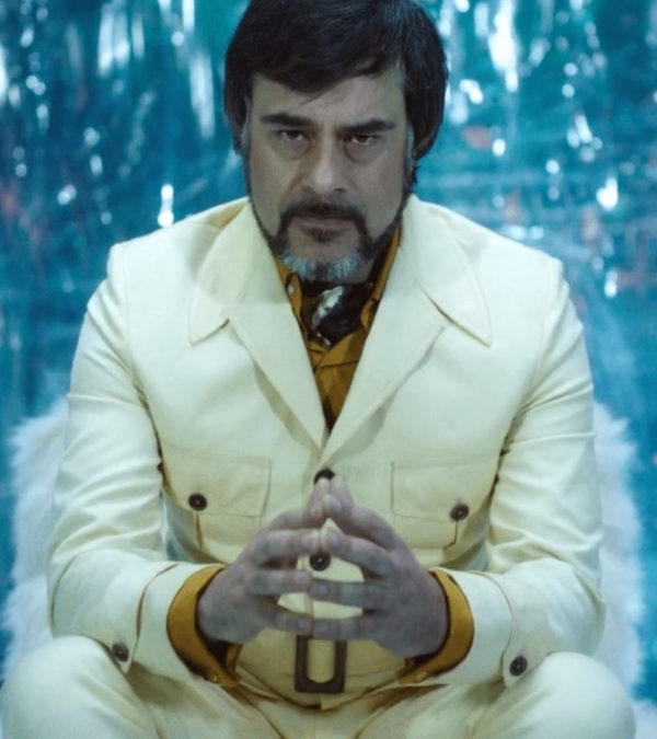 Jemaine Clement Oliver Bird Legion White Leather Coat