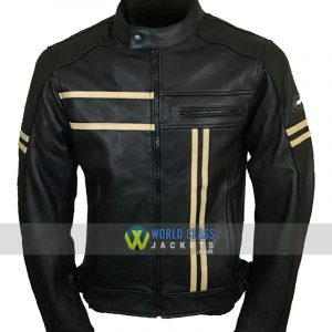 Leather Vintage Cruiser Retro Motorbike Motorcycle Jacket New Racer