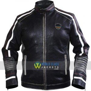 Men's Black Brando Cafe Racer Retro Biker Leather Jacket
