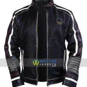 Men's Brando Black Cafe Racer Retro Biker Leather Jacket
