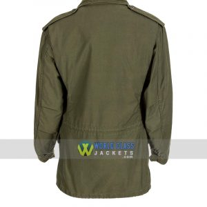 Men's John Rambo M65 Commando First Blood Military US Army Green Cotton Jacket
