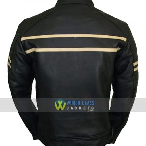 Vintage Cruiser Retro Motorbike Motorcycle Leather Jacket New Racer