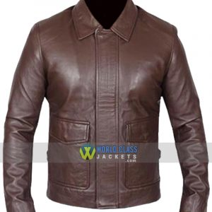 Vintage Indiana Jones Brown Leather Jacket