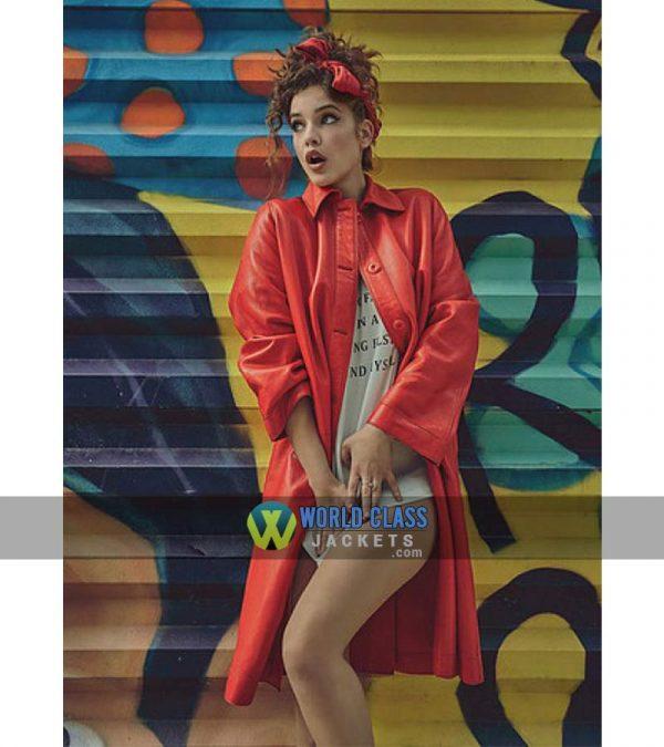 Buy Barbara Palvin Numero Russia No. 010 Red Leather Coat