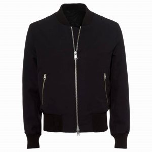 Buy Navy Blue Casual Bomber Jacket at $40 Off Sale