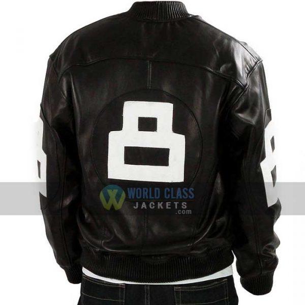 Buy 8 Ball Pool Where MI Bomber Black Leather Jacket