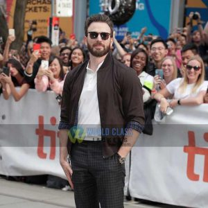Buy Chris evans Bomber Jacket at $50 Off Discount