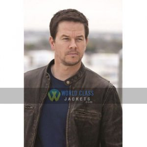 Buy Mark Wahlberg Contraband Brown Leather Jacket