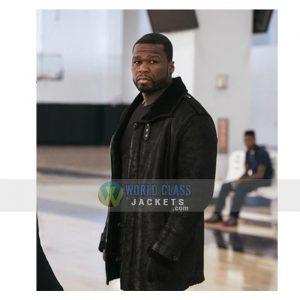 50 Cent Jackson Kanan Black Leather Mens Winter Fur Lining Coat